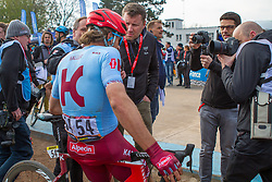 Marco Haller (AUT) of Team Katusha - Alpecin (SUI,WT,Canyon) during the 2019 Paris-Roubaix (1.UWT) with 257 km racing from Compiègne to Roubaix, France. 14th April 2019. Picture: Thomas van Bracht | Peloton Photos<br /> <br /> All photos usage must carry mandatory copyright credit (Peloton Photos | Thomas van Bracht)
