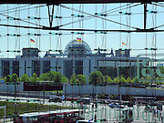 Berlin, GERMANY.  GV of the Reichstag , Federal Building of German Goverment. looking from Berlin Hauptbahnhof. Sunday 01/05/2011 [Mandatory Credit; Peter Spurrier/Intersport-images] Street Photos
