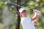 November 14, 2010: Webb Simpson tee shot on the par 3 third of the Magnolia course during third round golf action from The Children's Miracle Network Hospitals Classic held at The Disney Golf Resort in Lake Buena Vista, FL.