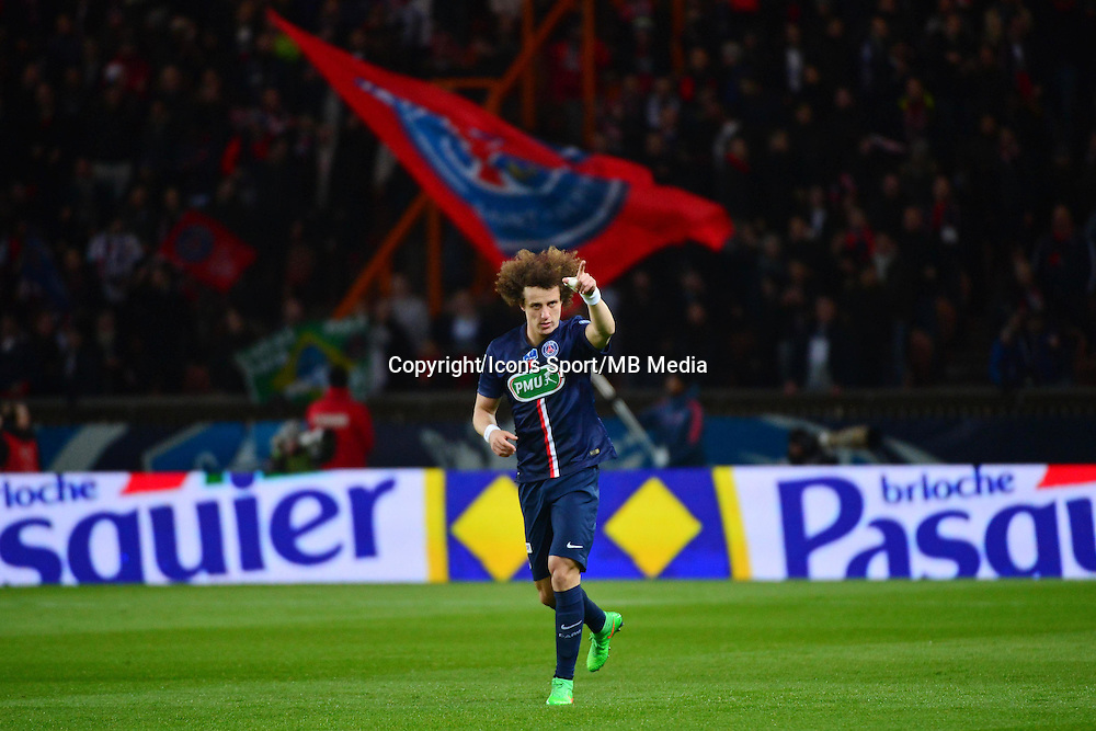 Joie David LUIZ - 04.03.2015 - PSG / Monaco - 1/4Finale Coupe de France<br />Photo : WinterPress / Icon Sport