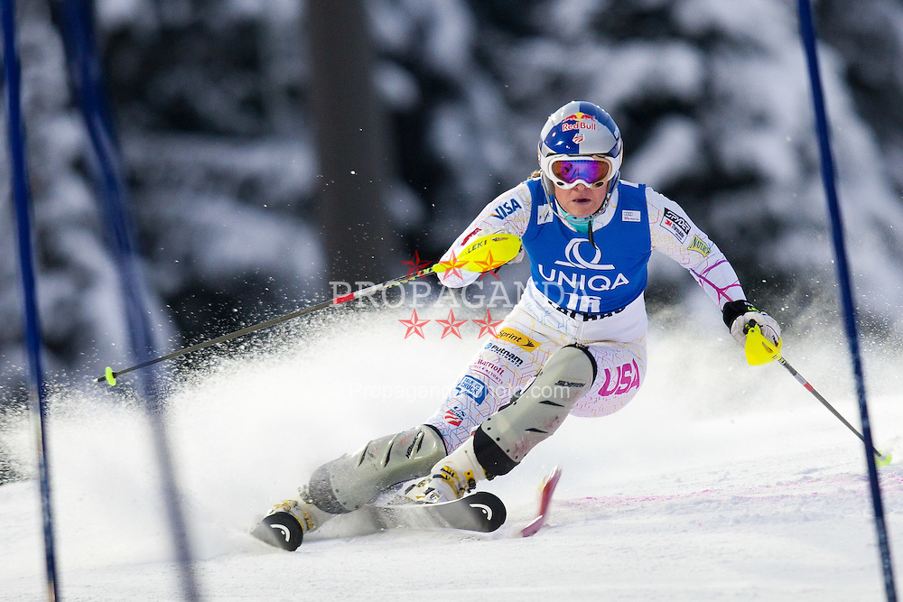 20.12.2011, Hermann Maier Piste, Flachau, AUT, FIS Weltcup Ski Alpin, Damen, Slalom 1. Durchgang, im Bild Lindsey Vonn (USA) // Lindsey Vonn of USA during Slalom 1st run at FIS Ski Alpine Worldcup at Hermann Maier Pist in Flachau, Austria on 2011/12/20. EXPA Pictures © 2011, PhotoCredit: EXPA/ Johann Groder