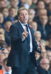 LONDON, ENGLAND - Tuesday, October 27, 2009: Tottenham Hotspur's manager Harry Redknapp during the League Cup 4th Round match against Everton at White Hart Lane. (Photo by David Rawcliffe/Propaganda)