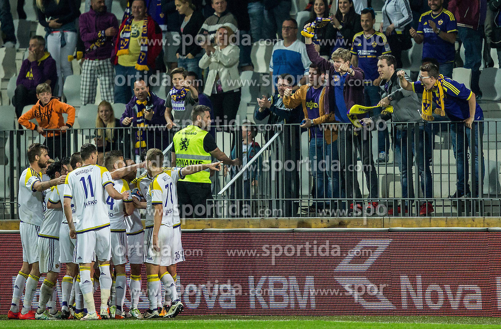 Players of Maribor celebrate after scoring second goal during football match between NK Celje and NK Maribor in Final of Slovenian Cup 2016, on May 25, 2016 in Stadium Bonifika, Koper, Slovenia. Photo by Vid Ponikvar / Sportida