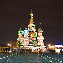 Saint Basil´s Cathedral at night, Moscow, Russia