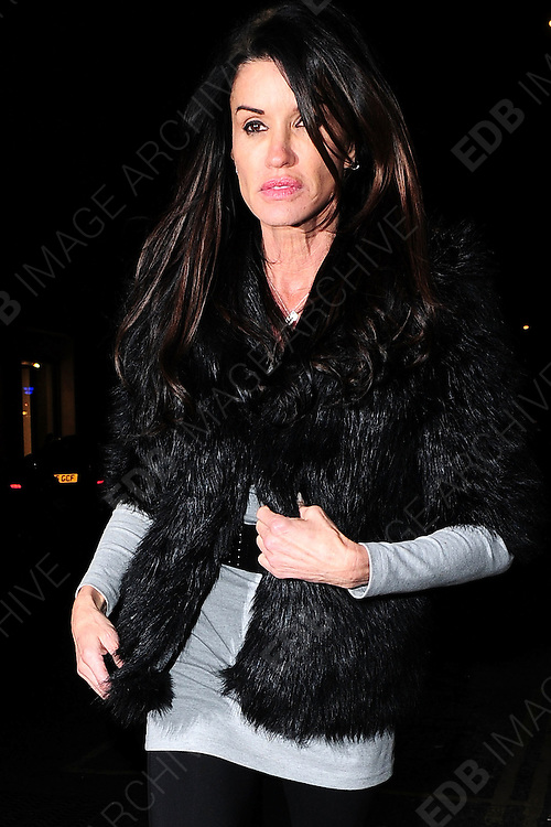 24.FEBRUARY.2011. LONDON<br /> <br /> JANICE DICKINSON LEAVING THE MAHIKI NIGHTCLUB IN CENTRAL LONDON<br /> <br /> BYLINE: EDBIMAGEARCHIVE.COM<br /> <br /> *THIS IMAGE IS STRICTLY FOR UK NEWSPAPERS AND MAGAZINES ONLY*<br /> *FOR WORLD WIDE SALES AND WEB USE PLEASE CONTACT EDBIMAGEARCHIVE - 0208 954 5968*