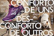 Sao Paulo, Brazil, August 4 of 2015: Mizuno Creation 17 Campaign. Photo: Caio Guatelli