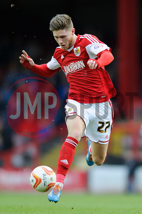 Bristol City Forward Wes Burns (WAL) in action - Photo mandatory by-line: Rogan Thomson/JMP - 07966 386802 - 01/03/2014 - SPORT - FOOTBALL - Ashton Gate, Bristol - Bristol City v Gillingham - Sky Bet League One.