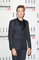 Nick Grimshaw, ELLE Style Awards 2016, Millbank London UK, 23 February 2016, Photo by Richard Goldschmidt