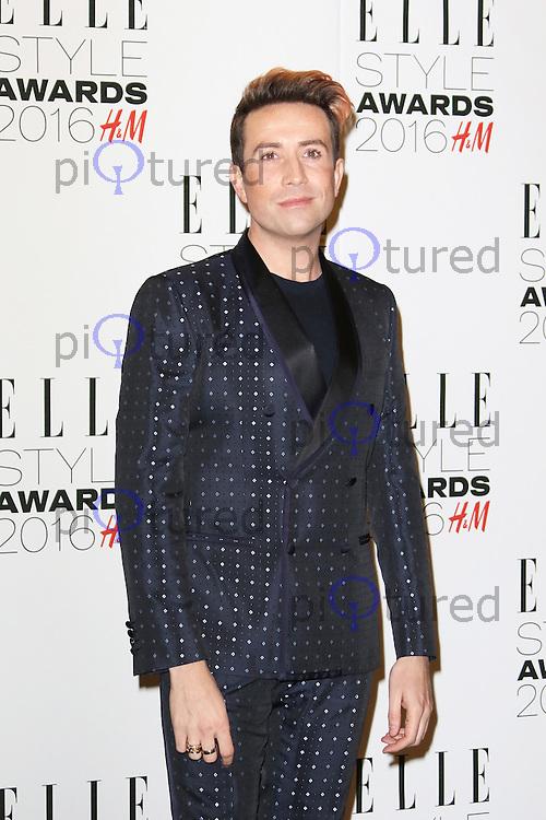 Nick Grimshaw, ELLE Style Awards 2016, Millbank London UK, 23 February 2016, Photo by Richard Goldschmidt