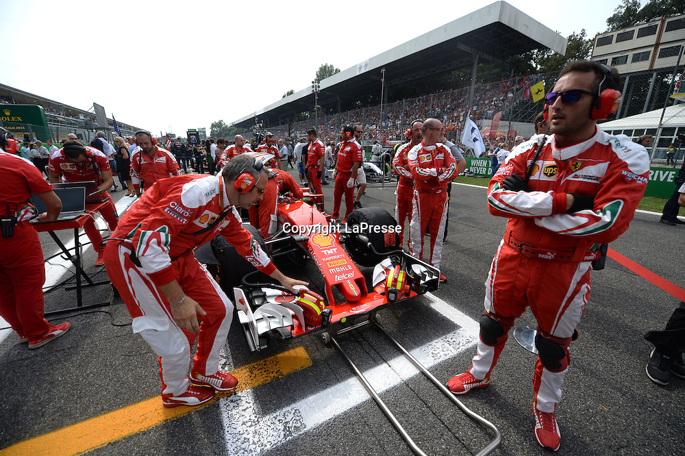 &copy; Photo4 / LaPresse<br /> 04/09/2016 Monza, Italy<br /> Sport <br /> Grand Prix Formula One Italia 2016<br /> In the pic: Kimi Raikkonen (FIN) Scuderia Ferrari SF16-H