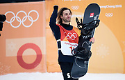 PYEONGCHANG-GUN, SOUTH KOREA - FEBRUARY 14: Patrick Burgener of Switzerland during the Mens Snowboard Halfpipe competition at Phoenix Snow Park on February 14, 2018 in Pyeongchang-gun, South Korea. Photo by Nils Petter Nilsson/Ombrello               ***BETALBILD***