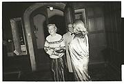 Lady Henrietta Bathurst, Arriving Reggie Heyworth's 21 st. Oxfordshire. 16 October 1982.