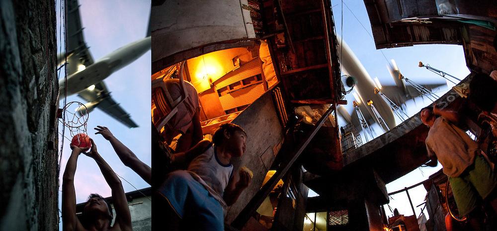 PHL Philippinen Manila Fotoprojekt über Slumbewohner unweit des Ninoy Aquino Airports.