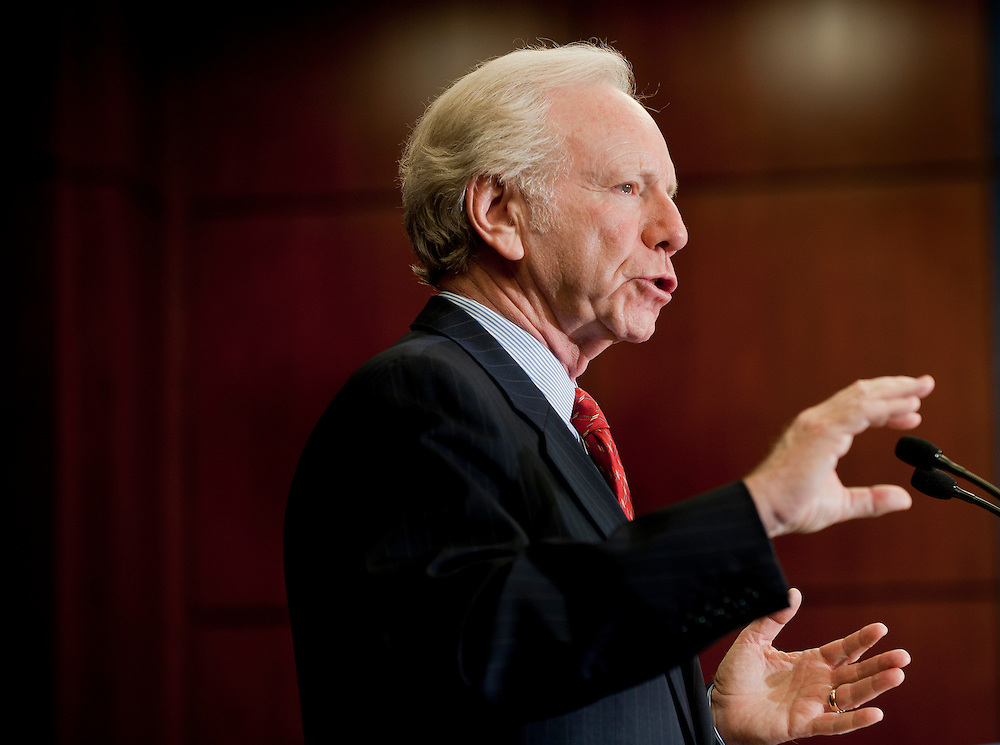 "Sep 21, 2010 - Washington, District of Columbia, U.S., - Senator JOE LIEBERMAN (D-CT) speaks at a news conference on how ""Don't Ask, Don't Tell"" repeal and the Development, Relief and Education for Alien Minors Act (DREAM) Act strengthens the military.(Credit Image: © Pete Marovich/ZUMA Press)"