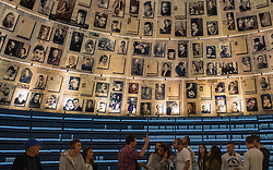 People visit the Hall of Names of the Yad Vashem Holocaust Memorial Museum in Jerusalem, on April 16, 2015. From Wednesday sunset to Thursday, Israel officially commemorates the genocide of six million Jews by Nazi Germany during the World War II. EXPA Pictures © 2015, PhotoCredit: EXPA/ Photoshot/ Li Rui<br /> <br /> *****ATTENTION - for AUT, SLO, CRO, SRB, BIH, MAZ only*****
