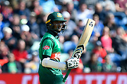 50 - Shakib Al Hasan (vc) of Bangladesh celebrates scoring a half century during the ICC Cricket World Cup 2019 match between England and Bangladesh the Cardiff Wales Stadium at Sophia Gardens, Cardiff, Wales on 8 June 2019.