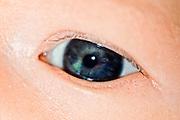 Macro of a newborn's eye, taken at 27 days old.