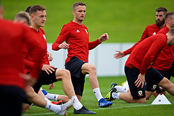 CARDIFF, WALES - Tuesday, September 4, 2018: Wales' Andy King during a training session at the Vale Resort ahead of the UEFA Nations League Group Stage League B Group 4 match between Wales and Republic of Ireland. (Pic by David Rawcliffe/Propaganda)