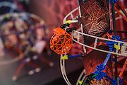 The new K'nex fan powered Web Weaver roller coaster set - The London Toy Fair opens at Olympia exhibition centre. Organised by the British Toy and Hobby Association it is the only dedicated toy, game and hobby trade exhibition in the UK. It runs for three days, with more than 240 exhibiting companies ranging from the large internationals to the new start up companies.