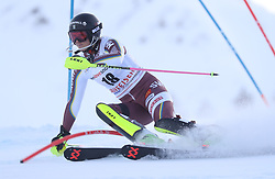 28.01.2018, Lenzerheide, SUI, FIS Weltcup Ski Alpin, Lenzerheide, Slalom, Damen, 1. Lauf, im Bild Emelie Wikstroem (SWE) // Emelie Wikstroem of Sweden in action during her 1st run of ladie's Slalom of FIS ski alpine world cup in Lenzerheide, Austria on 2018/01/28. EXPA Pictures © 2018, PhotoCredit: EXPA/ Sammy Minkoff<br /> <br /> *****ATTENTION - OUT of GER*****