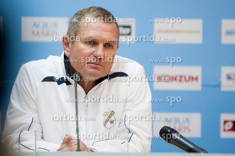 Matjaz Kek, head coach of HNK Rijeka after football match between HNK Rijeka and HNK Hajduk Split in 11th Round of Prva Hrvaska Nogometna Liga MaxTV 2013/14 on September 28, 2013 in Stadion Kantrida, Rijeka, Croatia. (Photo By Urban Urbanc / Sportida.com)