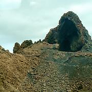 Volcanic crater found in the Timanfaya National Park / Montañas del Fuego in Lanzarote.