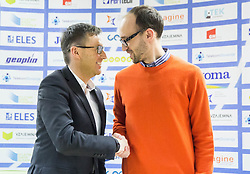 Roman Dobnikar and Luka Steiner during press conference when Slovenian athletes and their coaches sign contracts with Athletic federation of Slovenia for year 2016, on February 25, 2016 in AZS, Ljubljana, Slovenia. Photo by Vid Ponikvar / Sportida
