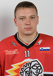 Andrej Makrov at HK Acroni Jesenice Team roaster for 2009-2010 season,  on September 03, 2009, in Arena Podmezaklja, Jesenice, Slovenia.  (Photo by Vid Ponikvar / Sportida)