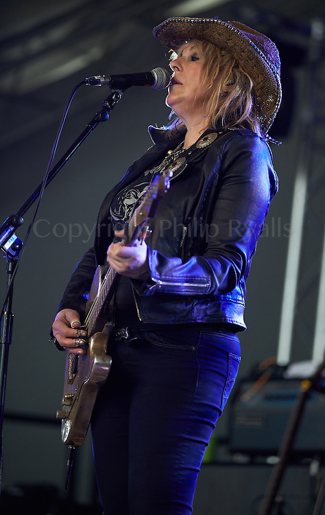 OXFORDSHIRE, UK - JULY 09: Lucinda Williams performs on stage at The Cornbury Music Festival on July 9th, 2016 in Oxfordshire, United Kingdom. (Photo by Philip Ryalls)**Lucinda Williams