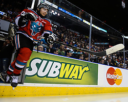 Action from Game 5 of the 2015 MasterCard Memorial Cup between the Oshawa Generals and Kelowna Rockets at Pepsi Colisee in Quebec City on Tuesday May 26, 2105. Photo by Aaron Bell/CHL Images