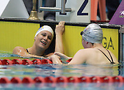 Elizabeth Coster after the Women's 100m Backstroke final at the New Zealand Swimming World Championship Trials at the West Aquatic Centre, Auckland, New Zealand, on Wednesday 13 December 2006. Photo: Michael Bradley/PHOTOSPORT