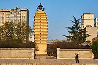 Chine, Province du Yunnan, Kunming, Pagode de l'Ouest // China, Yunnan, Kunming, West pagoda
