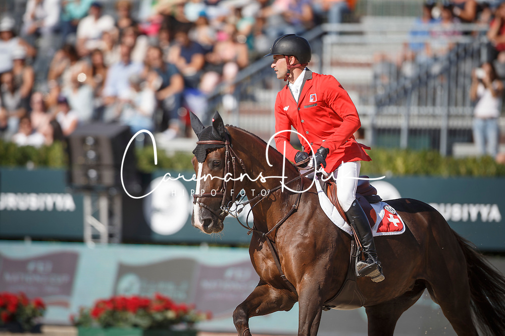 Duguet Romain, (FRA), Quorida de Treho <br /> First Round<br /> Furusiyya FEI Nations Cup Jumping Final - Barcelona 2015<br /> &copy; Dirk Caremans<br /> 24/09/15