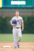 CHICAGO, IL - JUNE 25: Joc Pederson #31 of the Los Angeles Dodgers looks on during the game against the Chicago Cubs at Wrigley Field on June 25, 2015 in Chicago, Illinois. The Dodgers defeated the Cubs 4-0. (Photo by Joe Robbins) *** Local Caption *** Joc Pederson