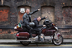 Repro Free: 16/09/2014 <br /> Irish comedians Eric Lalor and PJ Gallagher are pictured as they prepair to join over 60 motorcyclists from all over Ireland and depart on September 21st from Dublin for Chicago where they will begin their 2,444 mile journey across America, riding up Sunset Boulevard 12 days later. Now, in its 7th year, Irish comedians PJ Gallagher and Joe.ie writer Eric Lalor will leather up and take on the mother of all mother roads to help this group raise over &euro;250,000 for sick kids in Ireland.  This is a bi-annual trip and it has been running since 2002. It sees Temple Street&rsquo;s big-hearted bikers travel through 9 states and 4 different time zones; from Illinois through Missouri, Oklahoma, Kansas, Texas, New Mexico, Arizona, Nevada and finally California. As they ride this wonderful road, always on their minds are the brave little patients in Temple Street that urgently need the best possible care that can be given to them. Picture Andres Poveda