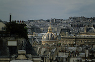 France. Paris. elevated view. Paris view from the senat roof top