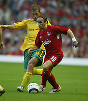 Liverpool v FBK Kaunas. Anfield. 02/08/05. UEFA Champions League 2nd qualifying round.<br /> Bolo Zenden makes a move for Liverpool