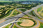 Nederland, Noord-Holland, Amsterdam,  29-06-2018; Knooppunt Holendrecht, A2 en A9. <br /> <br /> luchtfoto (toeslag op standard tarieven);<br /> aerial photo (additional fee required);<br /> copyright foto/photo Siebe Swart