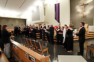 The members of Jubilee sing a final song during a performance following their final performance of 'The Way of the Cross' at St. Luke Catholic Parish in Beavercreek, Friday, March 30, 2012.  Formed in 1997, this was their final performance as a group.  They have raised and donated more than $10,000 to charities including the Catholic Social Services and a youth ministry, according to Karen King, director of the worship office of the Archdiocese of Cincinnati.  King added, 'clearly, their music making, their praying with us, was not about them.'
