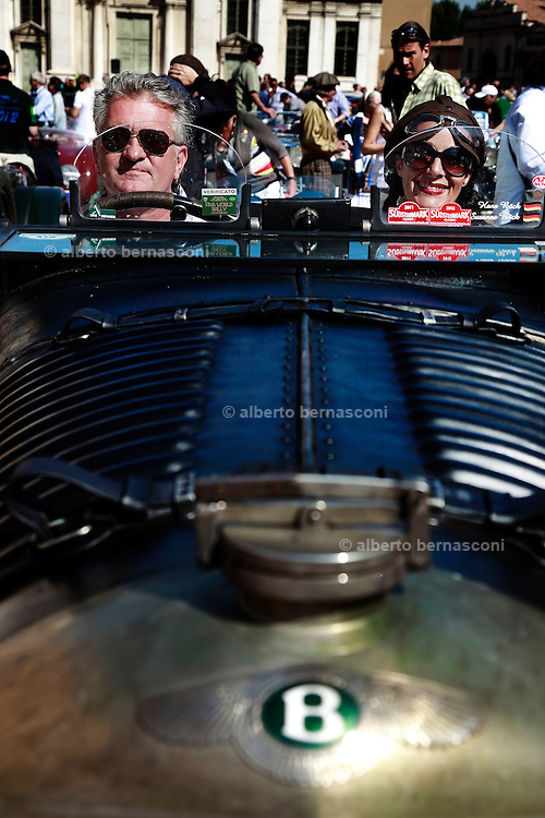 GP TAZIO NUVOLARI 2012. Mantova, Schenk, Eggimann, Bentley Open Tourer 1924