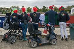 Italian supporters<br /> Grade III Team Test<br /> Para-Dressage FEI European Championships Deauville 2015<br /> © Hippo Foto - Jon Stroud<br /> 18/09/15