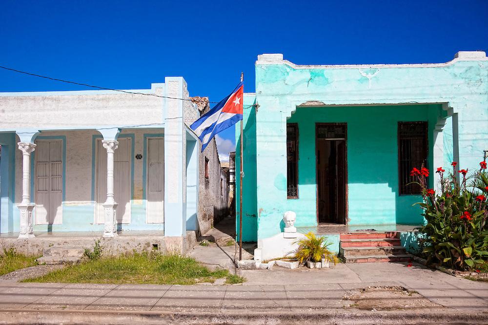 Houses in Holguin, Cuba.