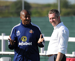 Sunderland AFC Ladies Manager Carlton Fairweather and Bristol Academy manager Willie Kirk - Mandatory by-line: Paul Knight/JMP - 25/07/2015 - SPORT - FOOTBALL - Bristol, England - Stoke Gifford Stadium - Bristol Academy Women v Sunderland AFC Ladies - FA Women's Super League