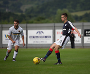 Dundee&rsquo;s Cammy Kerr and Dumbarton' Andrew Stirling  - Dumbarton v Dundee, pre-season friendly at the Cheaper Insurance Direct Stadium, Dumbarton<br /> <br />  - &copy; David Young - www.davidyoungphoto.co.uk - email: davidyoungphoto@gmail.com