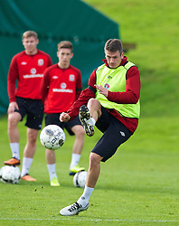 CARDIFF, WALES - Monday, October 14, 2013: Wales' Owain Tudur Jones during a training session at the Vale of Glamorgan ahead of the 2014 FIFA World Cup Brazil Qualifying Group A match against Belgium. (Pic by David Rawcliffe/Propaganda)