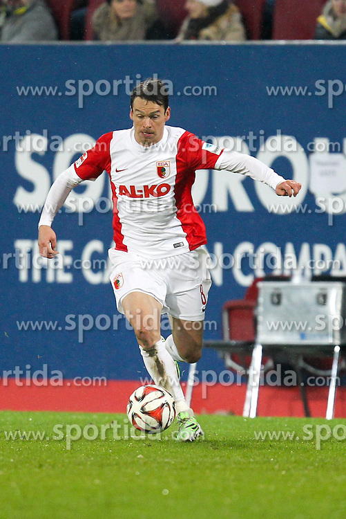 01.02.2015, SGL Arena, Augsburg, GER, 1. FBL, FC Augsburg vs TSG 1899 Hoffenheim, 18. Runde, im Bild Markus Feulner #8 (FC Augsburg) // during the German Bundesliga 18th round match between FC Augsburg and TSG 1899 Hoffenheim at the SGL Arena in Augsburg, Germany on 2015/02/01. EXPA Pictures &copy; 2015, PhotoCredit: EXPA/ Eibner-Pressefoto/ Kolbert<br /> <br /> *****ATTENTION - OUT of GER*****