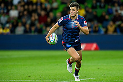 March 30, 2018 - Melbourne, VIC, U.S. - MELBOURNE, AUSTRALIA - MARCH 30 : Jack Maddocks of the Melbourne Rebels  runs with the ball during Round 7 of the Super Rugby Series between the Melbourne Rebels and the Wellington Hurricanes on March 30, 2018, at AAMI Park in Melbourne, Australia. (Photo by Jason Heidrich/Icon Sportswire) (Credit Image: © Jason Heidrich/Icon SMI via ZUMA Press)