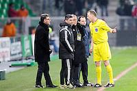 Christophe GALTIER - 06.02.2015 - Saint Etienne / Lens - 24eme journee de Ligue 1 -<br />Photo : Jean Paul Thomas / Icon Sport