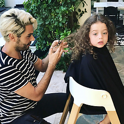 """Rachel Zoe releases a photo on Instagram with the following caption: """"Big night tonight... huge. \ud83d\ude48My @joeymaalouf gave #kaiusjagger his very first haircut \ud83d\udc94\ud83d\ude2a\ud83d\udc87\u200d\u2642\ufe0f\u2702\ufe0f\ud83d\udc97#thisis3 #byebyehair xoRZ"""". Photo Credit: Instagram *** No USA Distribution *** For Editorial Use Only *** Not to be Published in Books or Photo Books ***  Please note: Fees charged by the agency are for the agency's services only, and do not, nor are they intended to, convey to the user any ownership of Copyright or License in the material. The agency does not claim any ownership including but not limited to Copyright or License in the attached material. By publishing this material you expressly agree to indemnify and to hold the agency and its directors, shareholders and employees harmless from any loss, claims, damages, demands, expenses (including legal fees), or any causes of action or allegation against the agency arising out of or connected in any way with publication of the material."""