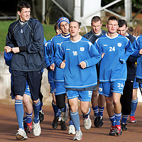 St Johnstone Training...26.01.07<br />Kevin James and Paul Sheerin lead the way during a warm-up <br />see story by Gordon Bannerman Tel: 01738 553978 or 07729 865788<br />Picture by Graeme Hart.<br />Copyright Perthshire Picture Agency<br />Tel: 01738 623350  Mobile: 07990 594431